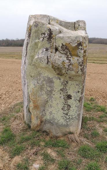 Photo du Monument Historique Menhir de la Pierre-aux-Prêtres situé à Tousson