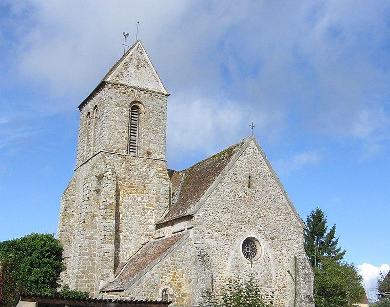 Photo du Monument Historique Eglise situé à Villeneuve-les-Bordes