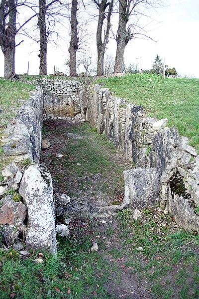Photo du Monument Historique Allée sépulcrale de la Cave aux fées situé à Brueil-en-Vexin