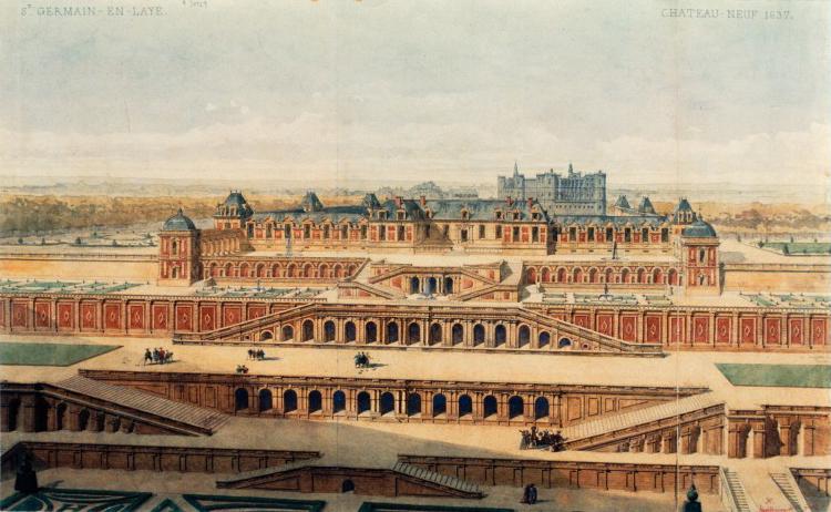Photo du Monument Historique Restes du château Neuf situé à Saint-Germain-en-Laye