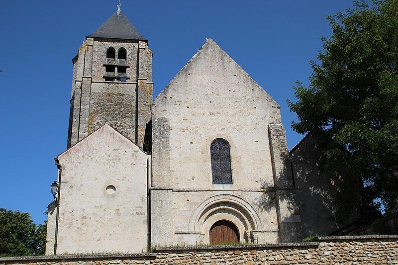 Photo du Monument Historique Eglise et prieuré situé à Saint-Martin-de-Bréthencourt