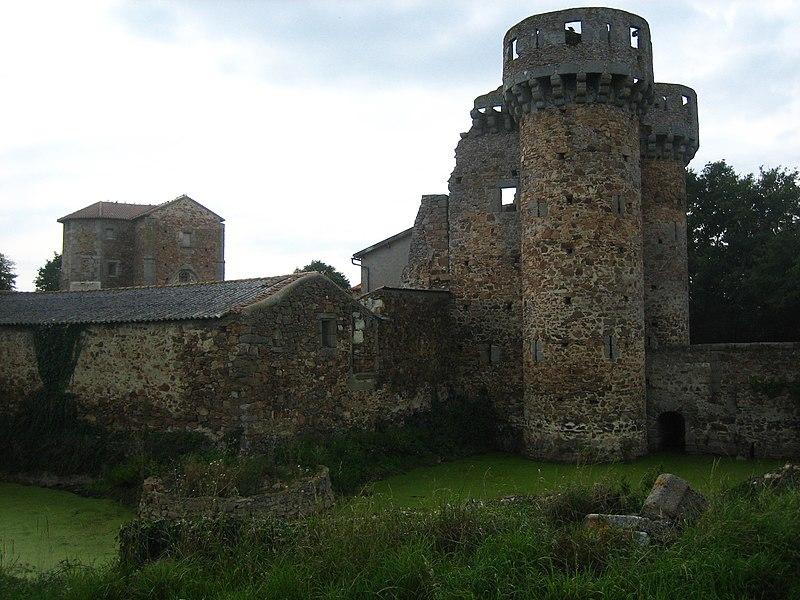 Photo du Monument Historique Château situé à Sanzay