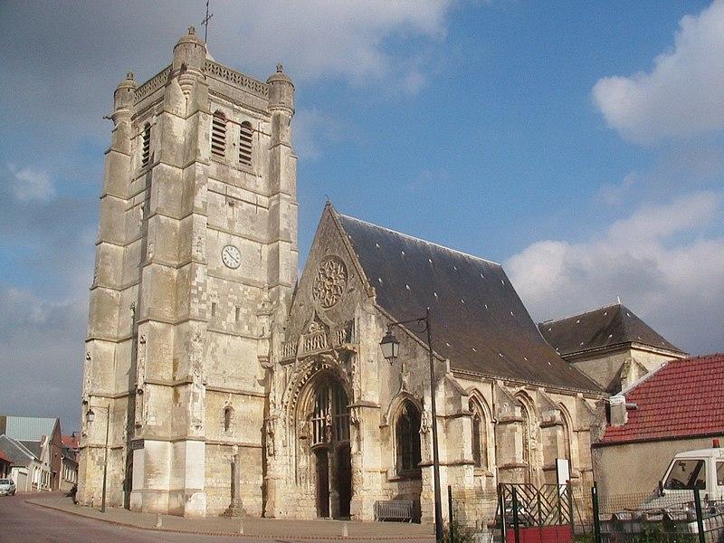 Photo du Monument Historique Eglise situé à Caix
