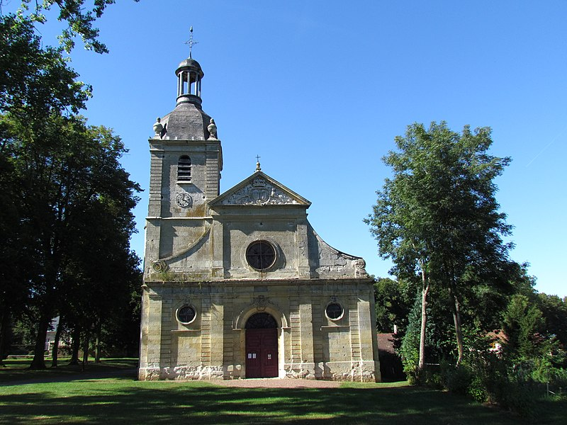 Photo du Monument Historique Eglise situé à Essertaux
