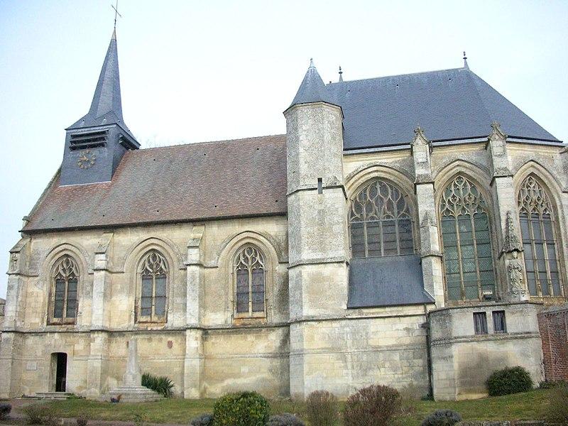 Photo du Monument Historique Eglise Saint-Jacques-le-Majeur et Saint-Jean-Baptiste situé à Folleville