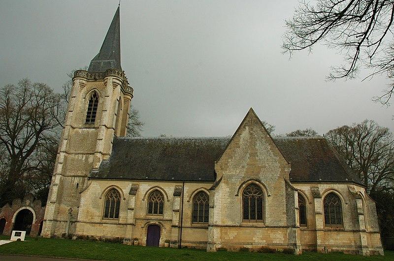 Photo du Monument Historique Eglise situé à Huppy