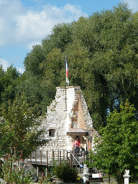 Photo du Monument Historique Ruines du château de Pourtricourt situé à Lanchères