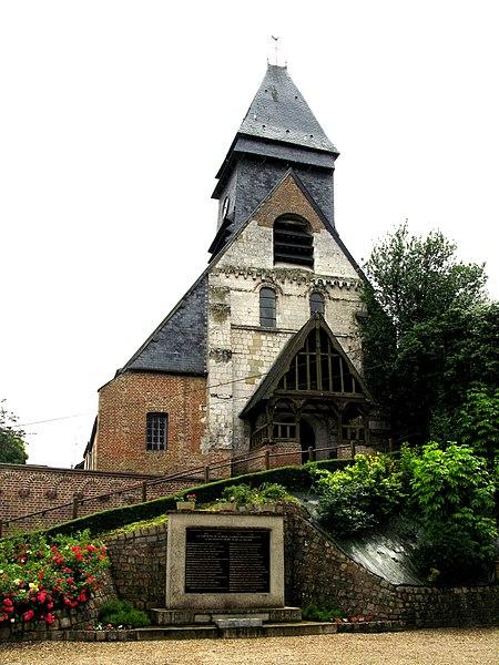 Photo du Monument Historique Eglise Saint-Christophe situé à Mareuil-Caubert