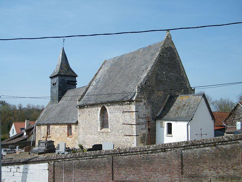 Photo du Monument Historique Eglise de Bouillancourt-sous-Miannay situé à Moyenneville