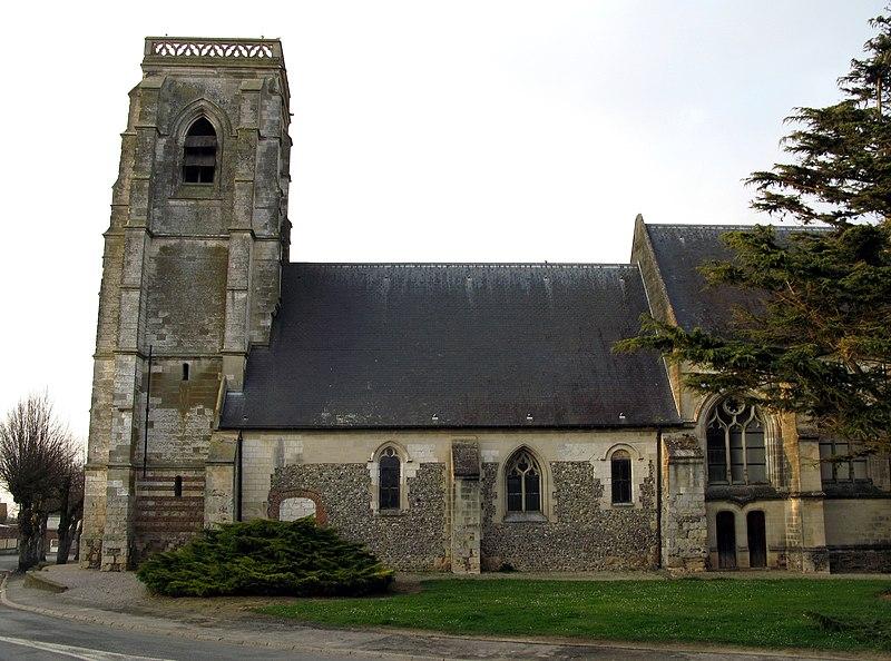 Photo du Monument Historique Eglise Saint-Samson et cimetière situé à Moyenneville