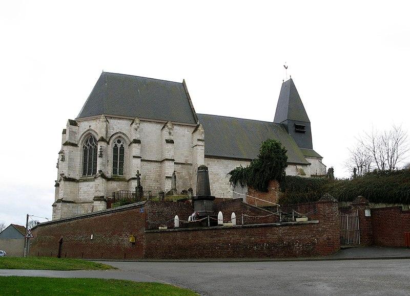 Photo du Monument Historique Eglise Saint-Gervais et Saint-Protais situé à Riencourt