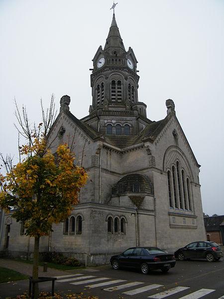 Photo du Monument Historique Eglise Saint-Martin situé à Hangest-en-Santerre