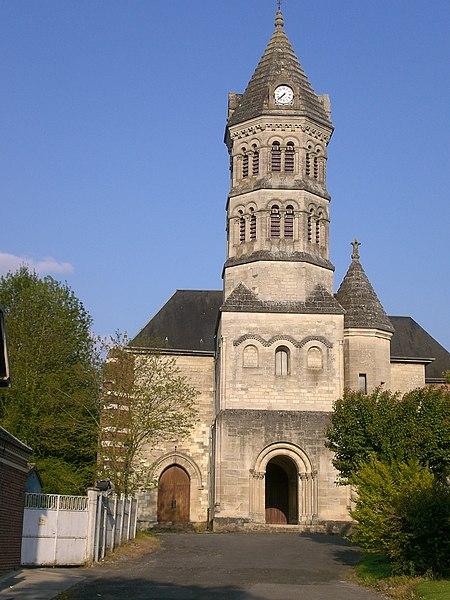 Photo du Monument Historique Eglise Saint-Pierre situé à Monchy-Lagache