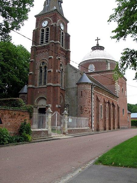 Photo du Monument Historique Eglise Saint-Agnan situé à Grivesnes