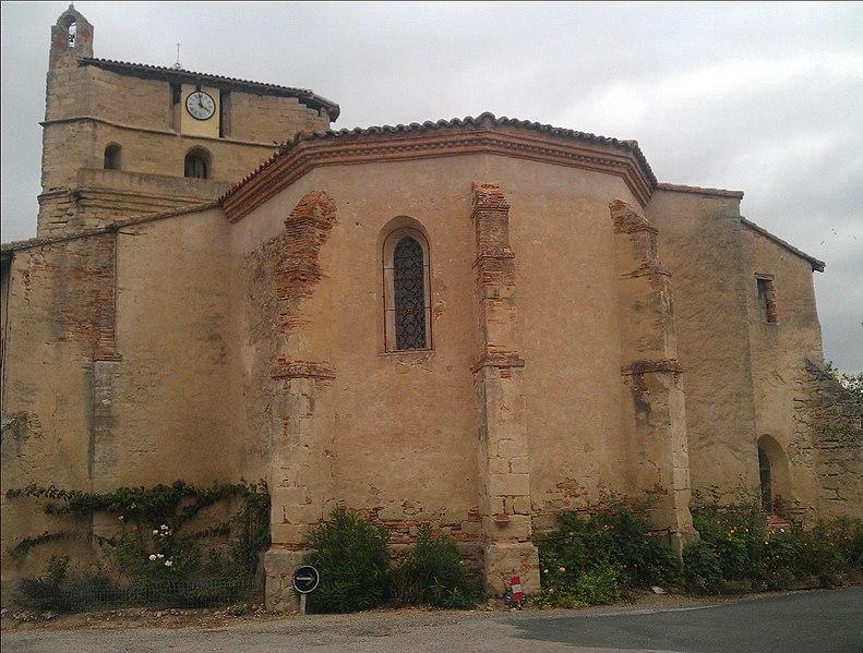 Photo du Monument Historique Eglise Saint-Etienne situé à Belcastel