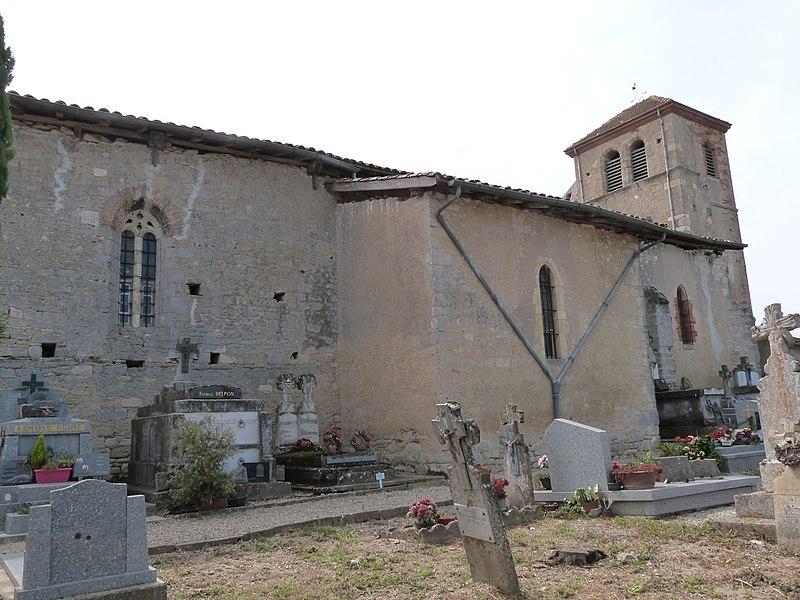 Photo du Monument Historique Eglise de Gabriac situé à Cadalen