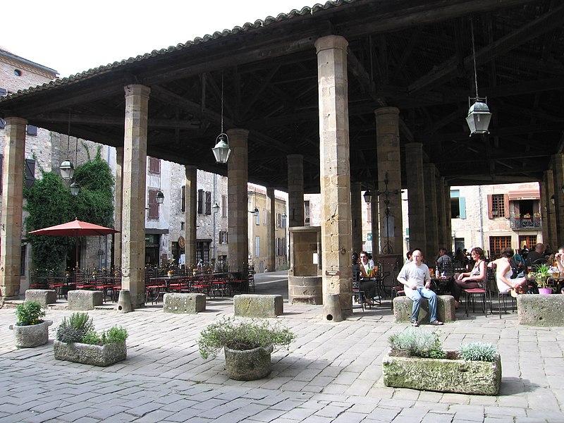 Photo du Monument Historique Halles situé à Cordes-sur-Ciel