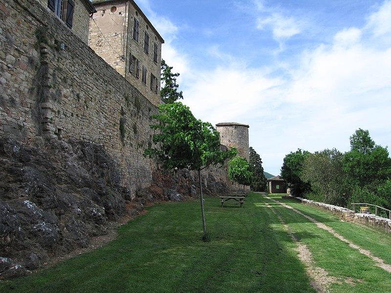 Photo du Monument Historique Restes des remparts situé à Puycelci