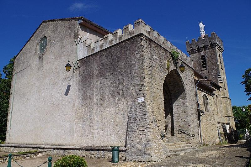 Photo du Monument Historique Eglise paroissiale Saint-Martin situé à Viviers-lès-Montagnes