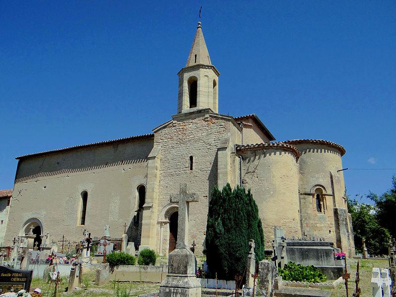 Photo du Monument Historique Eglise Saint-Maffre situé à Bruniquel