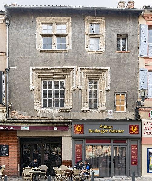 Photo du Monument Historique Maison du 15e siècle situé à Castelsarrasin