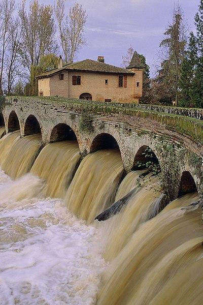 Photo du Monument Historique Moulin à eau de la Théoule situé à Cordes-Tolosannes