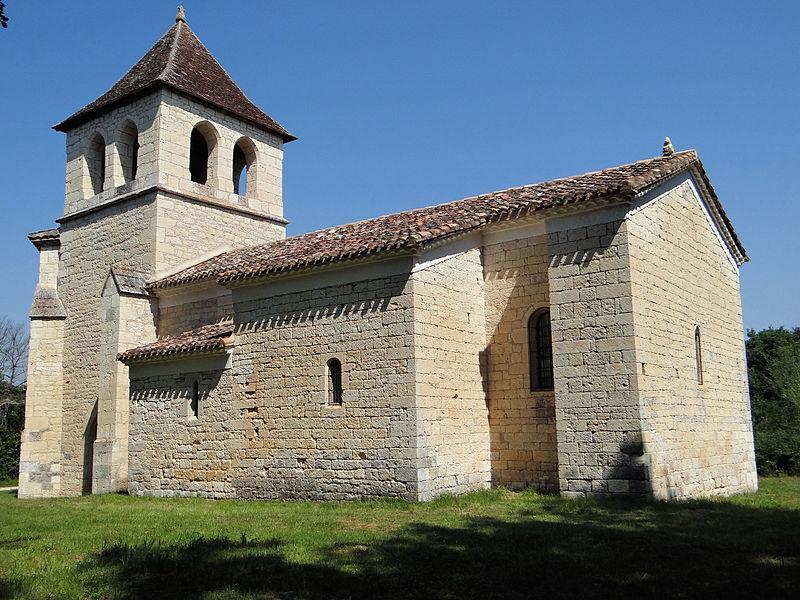 Photo du Monument Historique Eglise de Saux situé à Montpezat-de-Quercy
