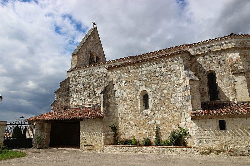 Photo du Monument Historique Eglise situé à Saint-Vincent-Lespinasse