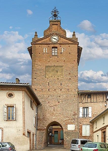 Photo du Monument Historique Tour de l'Horloge situé à Verdun-sur-Garonne