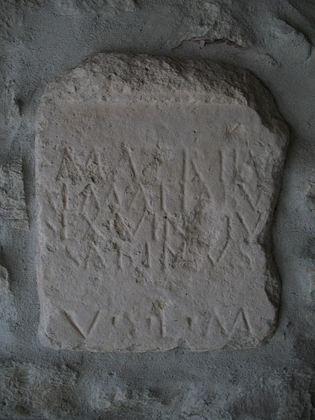 Photo du Monument Historique Stèle romaine portant une inscription situé à Plan-d'Aups-Sainte-Baume