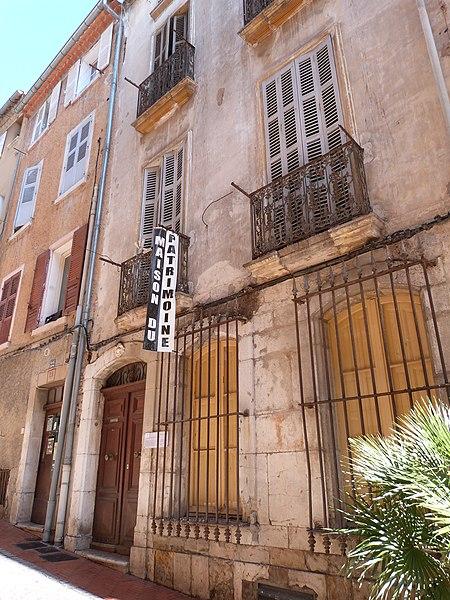 Photo du Monument Historique Maison situé à Ollioules