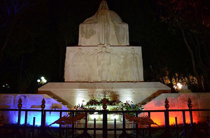 Photo du Monument Historique Monument aux morts de la guerre de 1914-1918 situé à Toulon