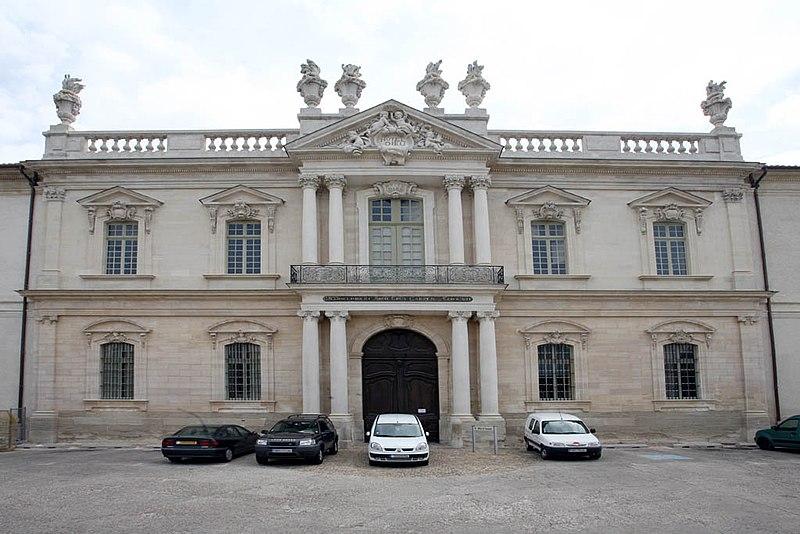 Photo du Monument Historique Hôtel-Dieu situé à Carpentras