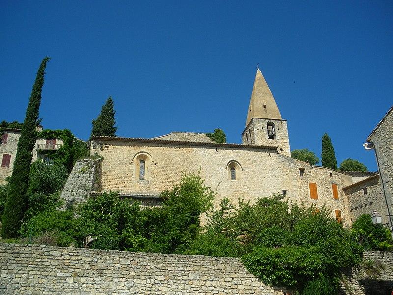 Photo du Monument Historique Eglise paroissiale Saint-Sauveur et Saint-Sixte situé à Crestet