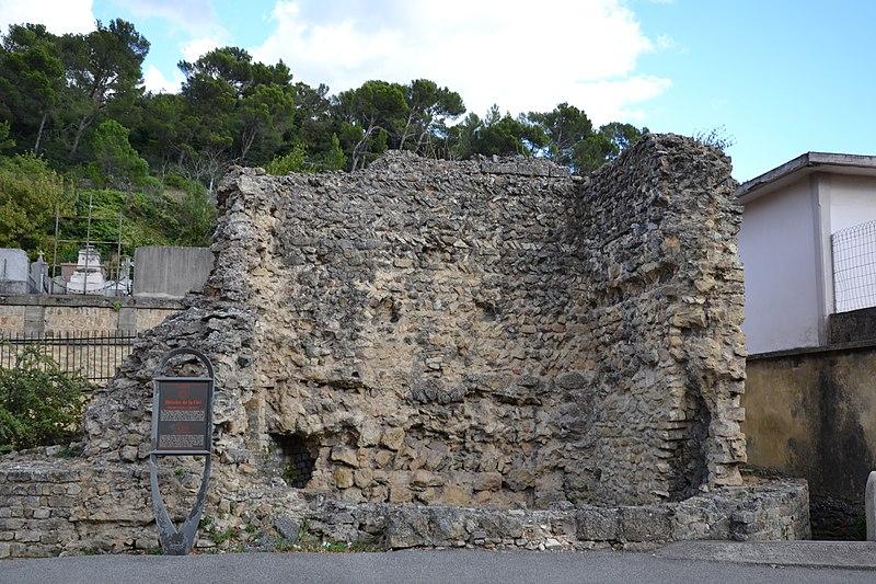 Photo du Monument Historique Rempart romain situé à Orange