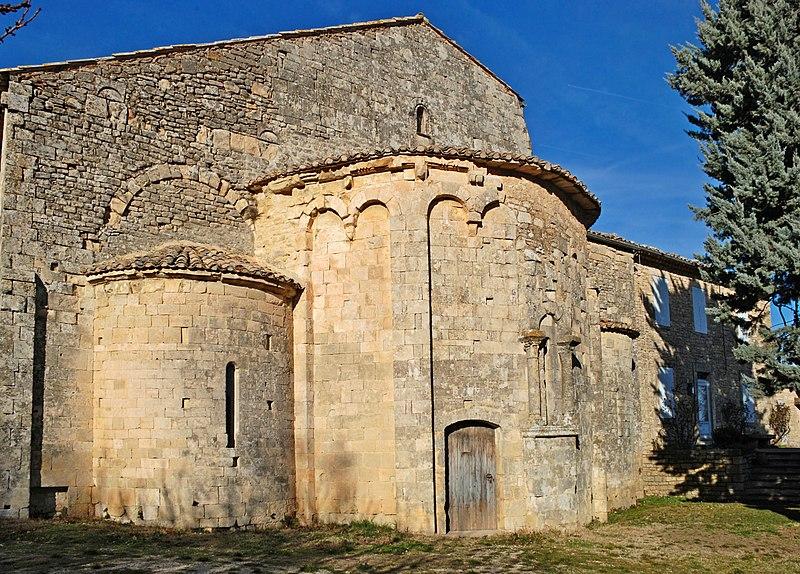 Photo du Monument Historique Ancienne abbaye Saint-Eusèbe situé à Saignon