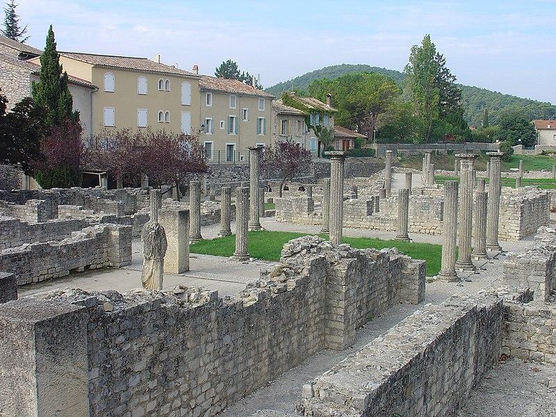 Photo du Monument Historique Site archéologique de la Villasse situé à Vaison-la-Romaine