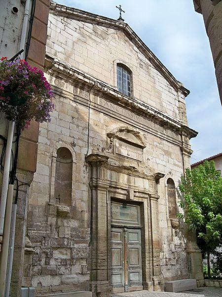 Photo du Monument Historique Ancienne chapelle des Pénitents noirs situé à Carpentras