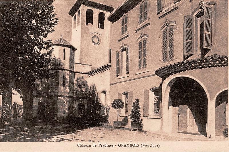 Photo du Monument Historique Domaine de Pradines situé à Grambois