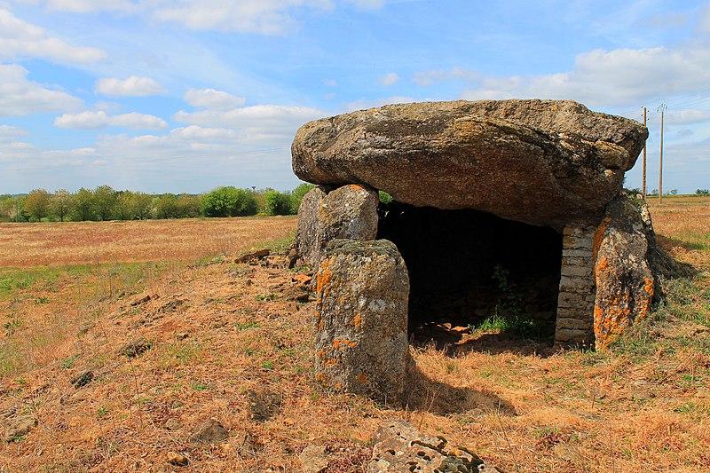 Photo du Monument Historique Dolmen dit des Landes ou Allée couverte de la Pierre Levée situé à Bazoges-en-Pareds