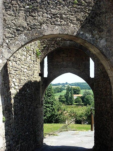 Photo du Monument Historique Donjon de Châteaumur situé à Les Châtelliers-Châteaumur