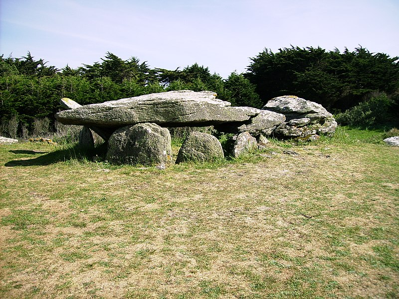 Photo du Monument Historique Dolmen La Gournaise ou des Petits Fradets situé à L'Ile-d'Yeu