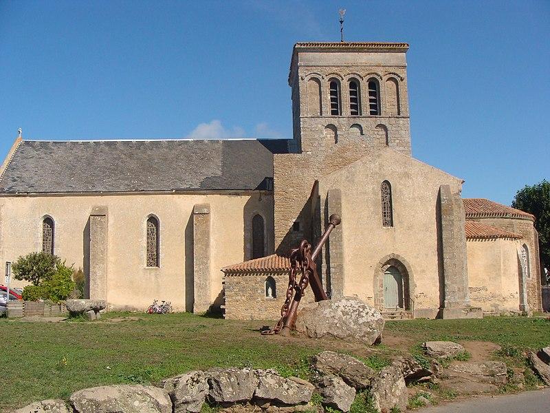 Photo du Monument Historique Eglise de Saint-Sauveur situé à L'Ile-d'Yeu