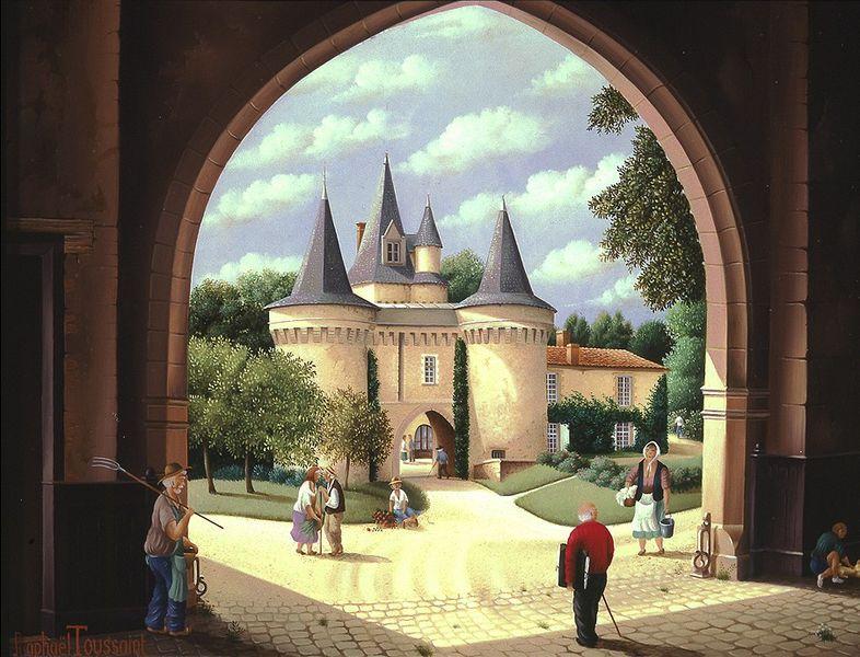 Photo du Monument Historique Château des Roches-Baritaud situé à Saint-Germain-de-Prinçay