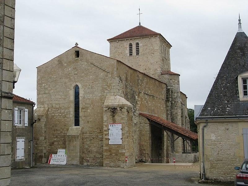 Photo du Monument Historique Eglise Saint-Martin situé à Saint-Martin-Lars-en-Sainte-Hermine