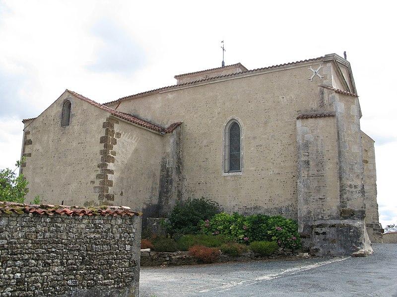 Photo du Monument Historique Eglise du Simon-la-Vineuse situé à Sainte-Hermine