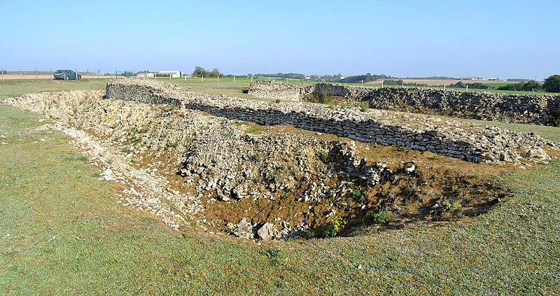 Photo du Monument Historique Enceinte préhistorique de Champ-Durand situé à Nieul-sur-l'Autise