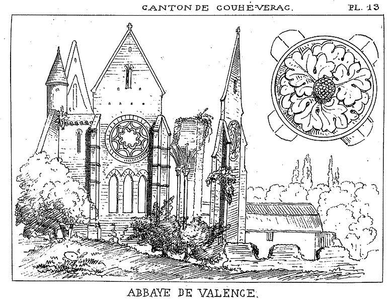 Photo du Monument Historique Ancienne abbaye Notre-Dame de Valence situé à Couhé