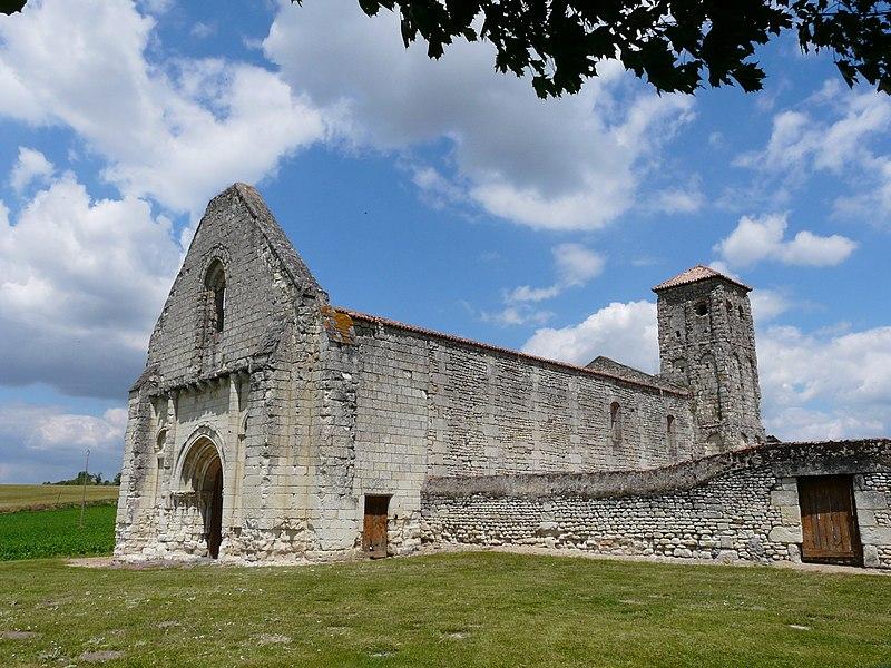 Photo du Monument Historique Restes de l'église Saint-Pierre situé à Curçay-sur-Dive
