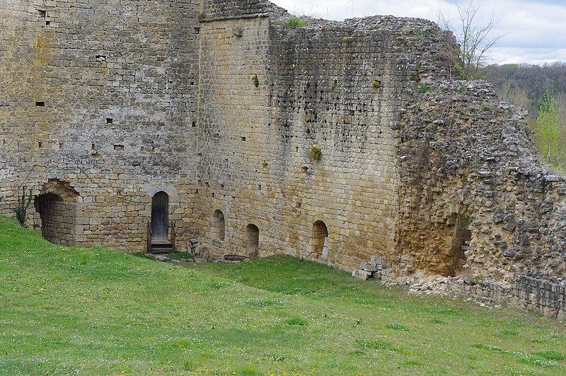 Photo du Monument Historique Ruines du château situé à Gençay